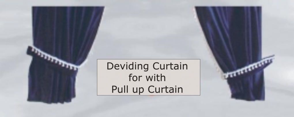 Curtain With Pull System And Dividing Curtains Set