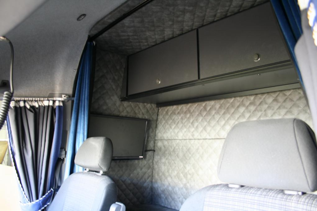 Sleeper Cab in MB Sprinter high with side door Right Hand Drive Scrivin