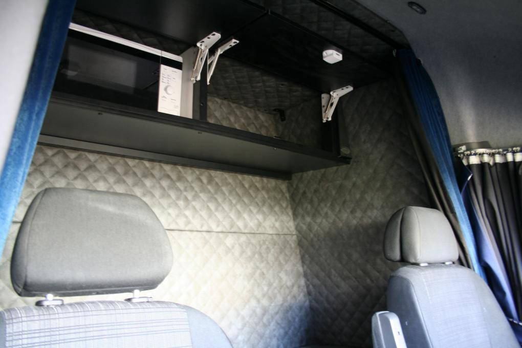Bunk bed curtains - Sleeper Cab In Mb Sprinter High With Side Door Right Hand