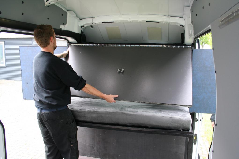 Collapsible Sleeper Cab in Van