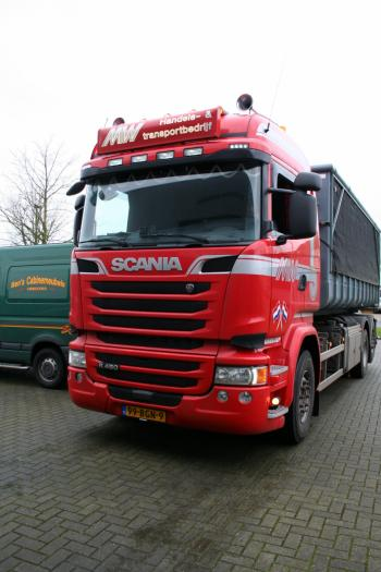 Scania R Highline Mosterd v.d. Weg