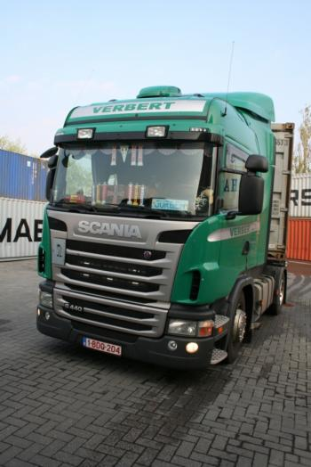Vrachtwagen van klant van Ben's Cabine Meubels